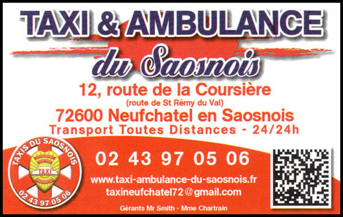 taxi et ambulances de saosnois, ambulances, taxis