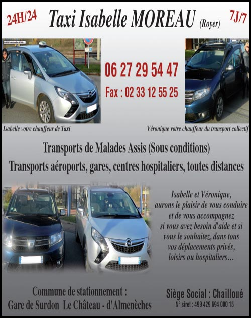 taxi isabelle moreau, taxis