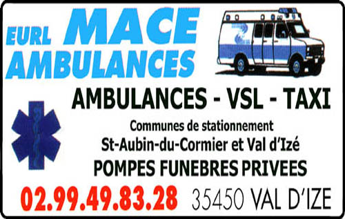 eurl macé ambulances, taxis, ambulances, pompes funèbres
