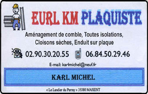 km plaquiste - karl michel, cloisons sèches,isolation,