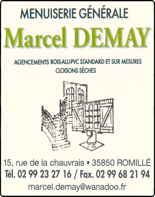 marcel demay, agencement,cloisons sèches, menuiserie, fermetures,