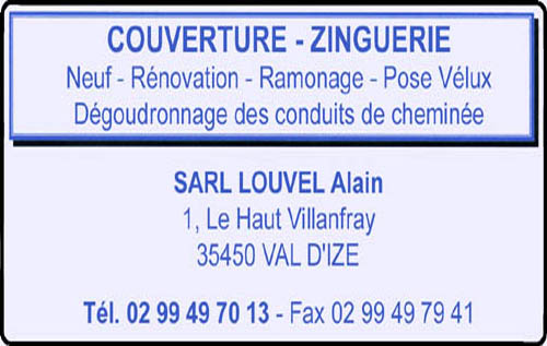 alain louvel, couverture,ramonage,zinguerie,