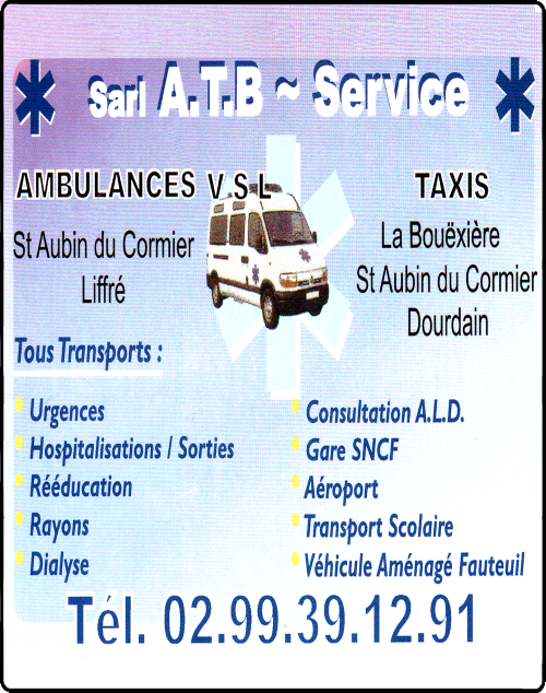sarl a.t.b. service, ambulances, taxis