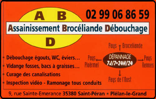assainissement brocéliande débouchage, ramonage,assainissement, canalisations,