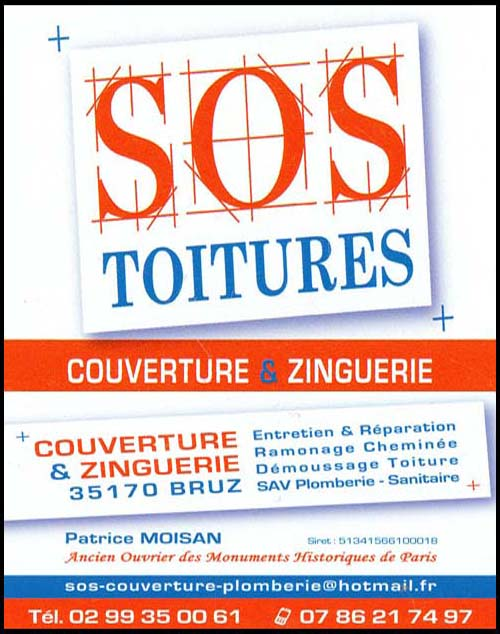 sos toitures - patrice moisan, couverture, plomberie
