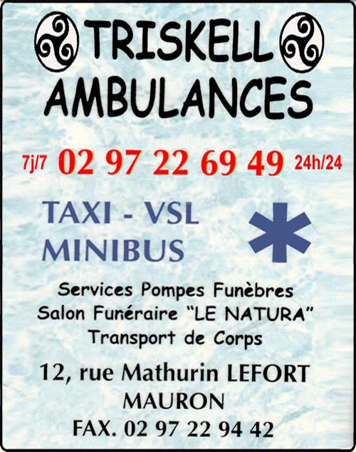 triskell ambulances, taxis, ambulances, pompes funèbres, funerarium,