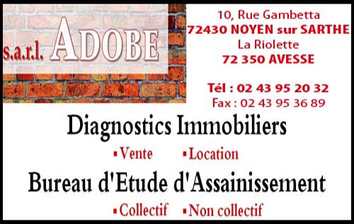 adobe, ,assainissement, diagnostic immobilier,  ,