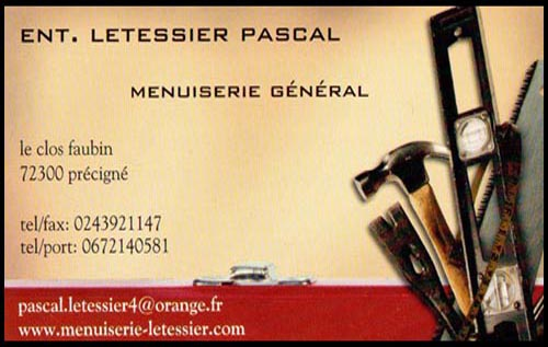 pascal letessier, , menuiserie,