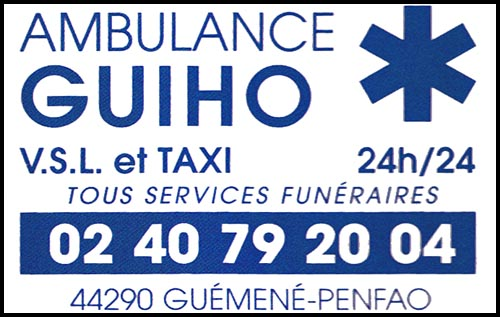 ambulance guiho, , taxis, ambulances, pompes funèbres,