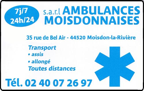 ambulances moisdonnaises, , ambulances,