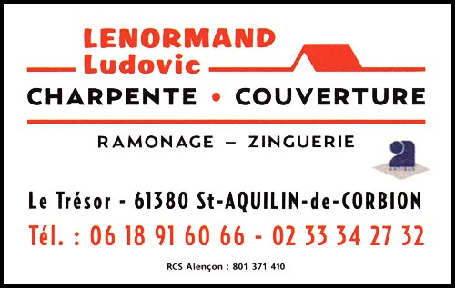ludovic lenormand, charpente, couverture,ramonage,zinguerie,