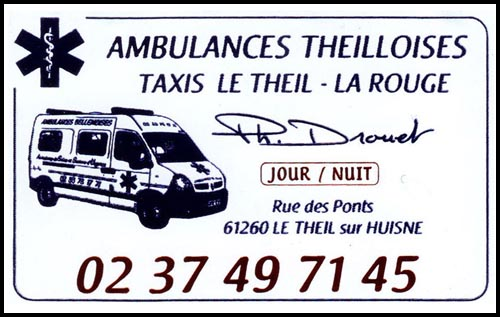 ambulances theilloises, , taxis, ambulances,