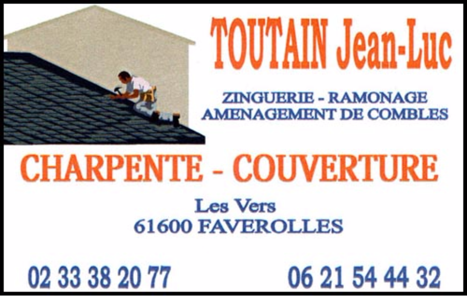s.a.r.l. jean-luc toutain, couverture, charpente,zinguerie,ramonage, agencement de combles,isolation