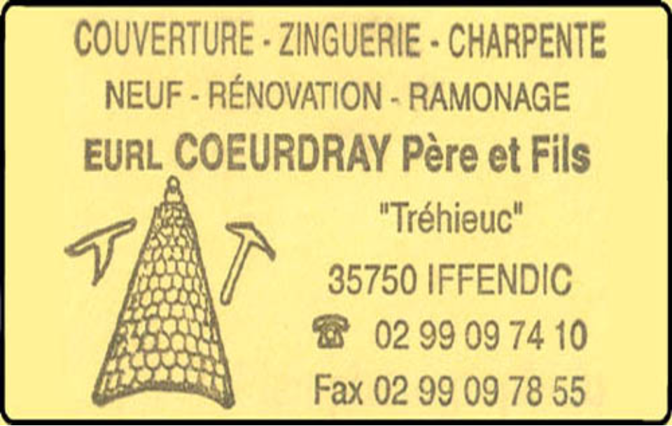 coeurdray pascal, couverture,zinguerie,charpente,ramonage