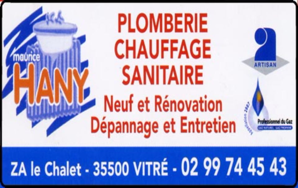 maurice hany, plomberie,chauffage,sanitaires