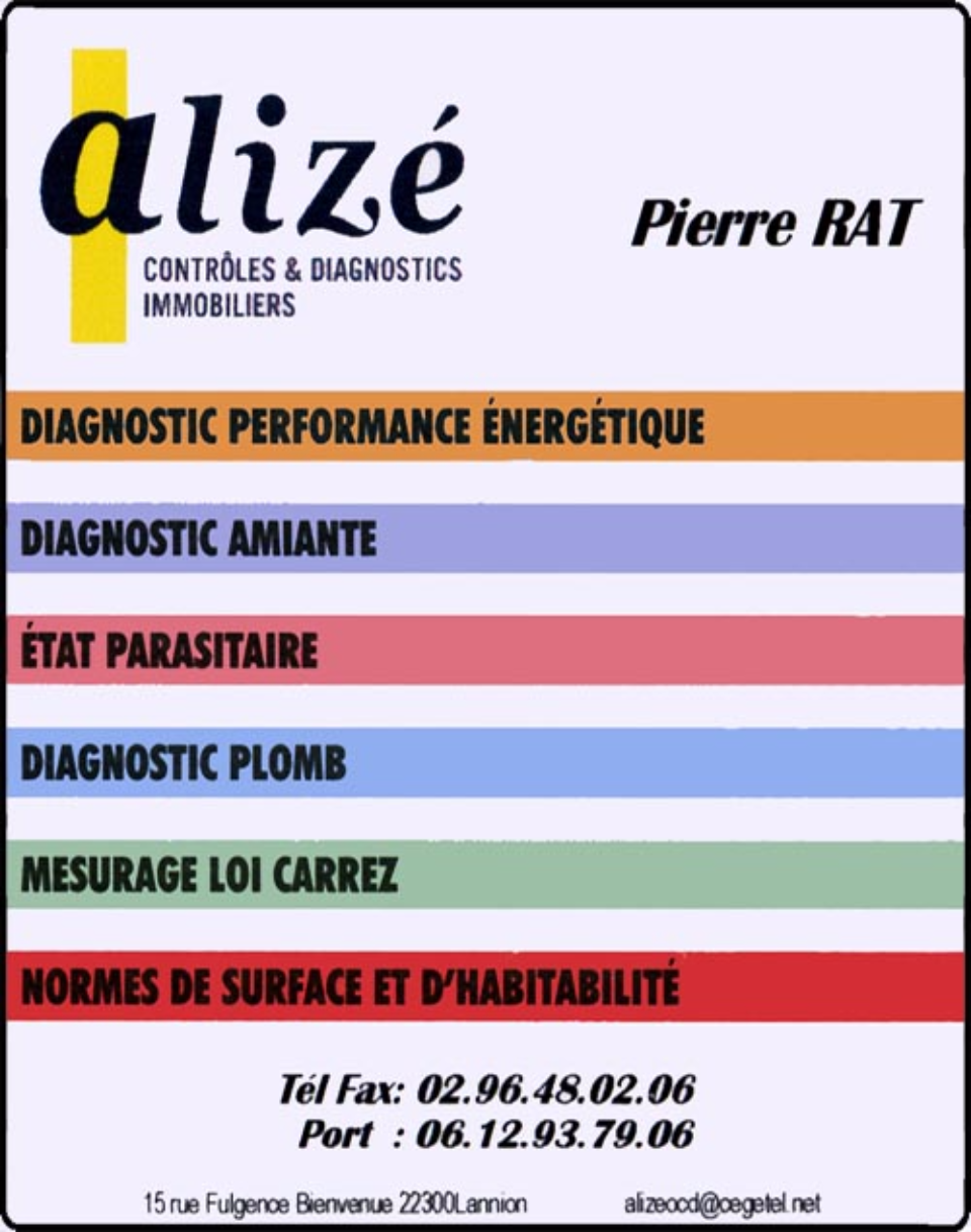 alizé, diagnostic immobilier, amiante, loi carrez